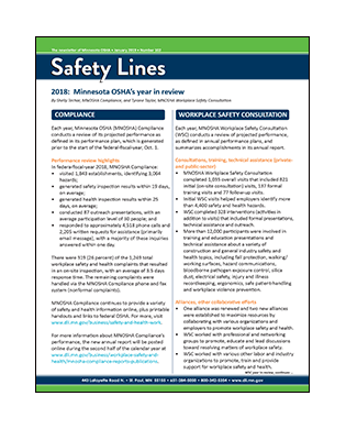 Safety Lines newsletter cover